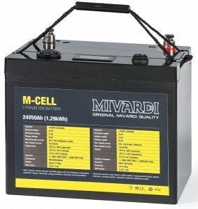 Mivardi Lithiová Baterie M-CELL 24 V 50 Ah + 10 A Nabíječka