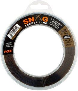 Fox Návazcový Vlasec Snag Leaders Trans Khaki-Průměr 0,57 mm / Nosnost 18,1 kg / Návin 100 m