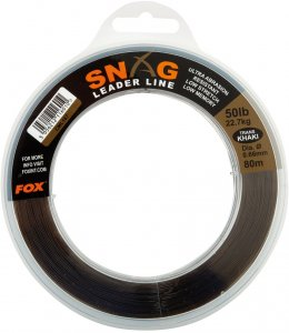 Fox Návazcový Vlasec Snag Leaders Trans Khaki-Průměr 0,66 mm / Nosnost 22,6 kg / Návin 80 m