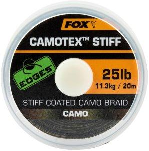 Fox Návazcová Šňůrka Edges Camotex Stiff 20 m-Průměr 20 lb / Nosnost 9,1 kg