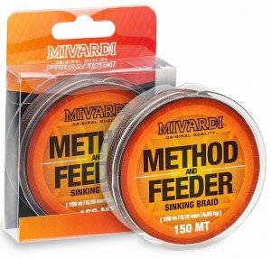 Mivardi Splétaná Šňůra Method & Feeder Sinking Braid 150 m Hnědá-Průměr 0,10 mm / Nosnost 6,85 kg