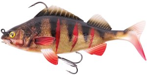 Fox Rage Gumová Nástraha Realistic Replicant Super Natural Wounded Perch-14 cm