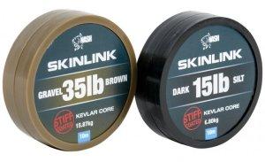 Nash Návazcová Šňůrka potahovaná SkinLink Stiff 10 m Silt Tmavá-Průměr 25 lb / Nosnost 11,33 kg