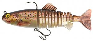 Fox Rage Gumová Nástraha Replicant Jointed SN Brown Trout-23 cm 130 g