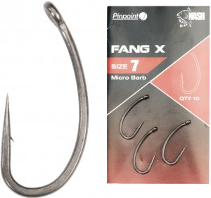 Nash Háčky Pinpoint Fang X Micro Barbed-Velikost 7