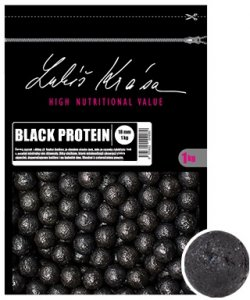 LK Baits Boilie Lukáš Krása Black Protein-1 kg 24 mm
