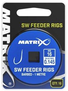 Matrix Návazec SW Feeder Rigs 1 m 10 ks-Velikost Háčku 18