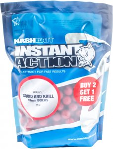 Nash Boilies Instant Action Squid Krill-15 mm 1 kg