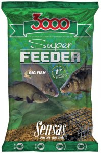 Sensas Krmení 3000 Super Feeder New 1 kg-lake black
