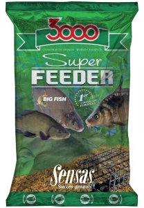 Sensas Krmení 3000 Super Feeder New 1 kg-river black