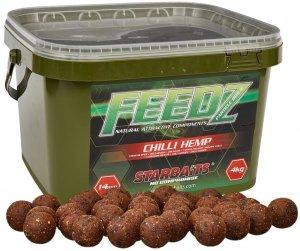 Starbaits Boilies Feedz 14 mm 4 kg-chilli hemp