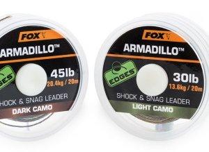 Fox Návazcová Šňůrka Armadillo 65 lb Camo 29,5 kg 20 m-Dark Camo