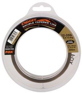 Fox Vlasec Exocet Double Tapered Line Trans Khaki 300 m-Průměr 0,30 - 0,50 mm / Nosnost 5,4 - 15,9 kg