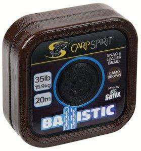 Carp Spirit Návazcová Šňůra Ballistic Camo Brown 20 m-Nosnost 35 lb