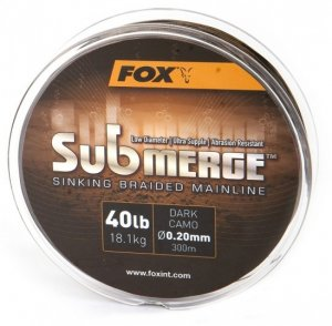 Fox Splétaná Šňůra Submerge Sinking Braided Mainline Camo 600 m-Průměr 0,16 mm / Nosnost 11,3 kg