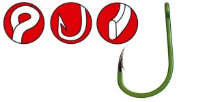 Gamakatsu Háčky A1G-Carp Camou green Specialist 10ks-Velikost 6