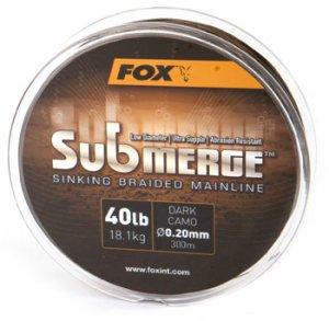 Fox Pletená šňůra Submerge Dark Camo 0,30 mm 50 lb-Návin 300 m