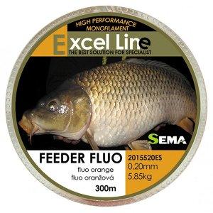 Sema Vlasec Feeder Fluo Oranžová 300 m-Průměr 0,20 mm / Nosnost 5,85 kg