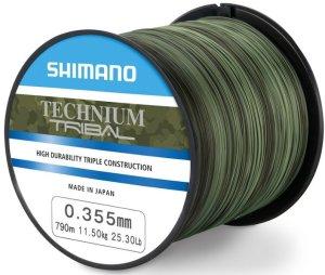 Shimano Vlasec Technium Tribal PB Camou-Průměr 0,305 mm / Nosnost 8,50 kg / Návin 1100 m