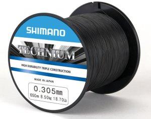 Shimano Vlasec Technium PB Černá-Průměr 0,285 mm / Nosnost 7,50 kg / Návin 650 m