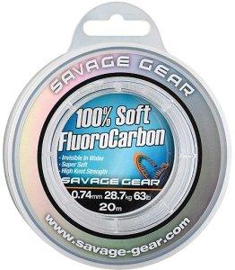Savage Gear Fluorocarbon Soft Fluoro Carbon 50 m-Průměr 0,17 mm / Nosnost 2,1 kg