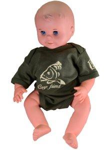 R-SPEKT Baby body Carp friend khaki-Velikost 3-6 měs.