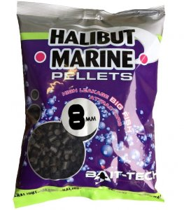 Bait-Tech Pelety Bez Dírek Halibut Marine 900 g-4 mm