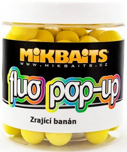 Mikbaits Plovoucí Boilie Fluo 250 ml 14 mm-Zrajicí Banán