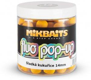 Mikbaits Plovoucí Boilie Fluo 250 ml 14 mm-Sladká Kukuřice
