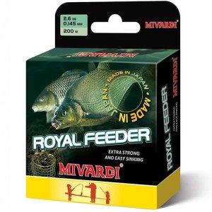 Mivardi Vlasec Royal Feeder Green 200 m-Průměr 0,225 mm / Nosnost 6,7 kg