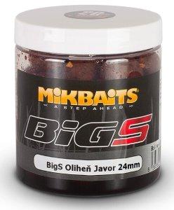 Mikbaits Boilies v Dipu BigS Oliheň Javor 250 ml-24mm