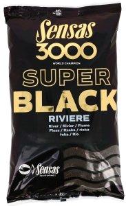Sensas krmení  3000 SUPER BLACK 1kg-Riviere