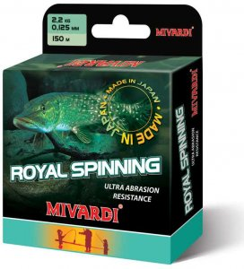 Mivardi Vlasec Royal Spinn Grey 200 m - Průměr 0,165 mm / Nosnost 3,2 kg