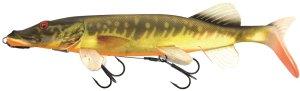 Fox Rage Gumová Nástraha Pike Replicant Shallow Supernatural Hot Pike-25 cm 108 g