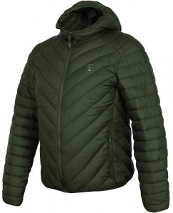 Fox Bunda Collection Quilted Jacket Green Silver-Velikost M