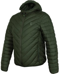 Fox Bunda Collection Quilted Jacket Green Silver-Velikost XXL