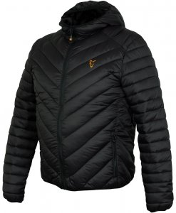 Fox Bunda Collection Quilted Jacket Black Orange-Velikost XL