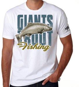 Giants Fishing Tričko Pánské Bílé Pstruh-Velikost M
