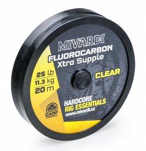 Mivardi Fluorocarbon Xtra Supple Čirý 20 m-Nosnost 25 lb