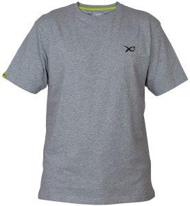 Matrix Triko Minimal Light Grey Marl T Shirt-Velikost S