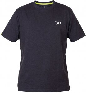Matrix Triko Minimal Black Marl T Shirt-Velikost XXL