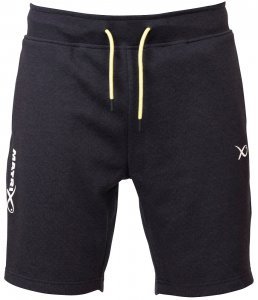 Matrix Kraťasy Minimal Black Marl Jogger Shorts-Velikost M