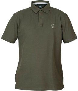 Fox Triko Collection Green Silver Polo Shirt-Velikost S