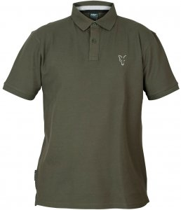 Fox Triko Collection Green Silver Polo Shirt-Velikost M