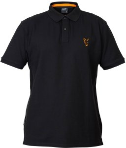 Fox Triko Collection Black Orange Polo Shirt-Velikost S