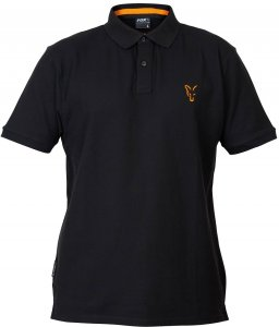 Fox Triko Collection Black Orange Polo Shirt-Velikost L