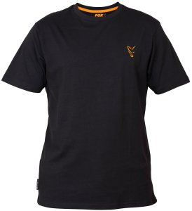 Fox Triko Collection Black Orange T Shirt-Velikost M