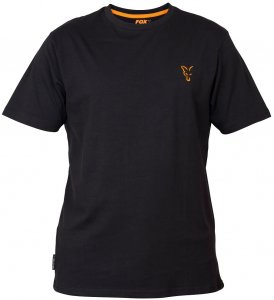 Fox Triko Collection Black Orange T Shirt-Velikost XL
