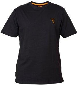 Fox Triko Collection Black Orange T Shirt-Velikost XXXL