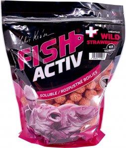 LK Baits Boilie Fish Activ Plus Wild Strawberry - 1 kg